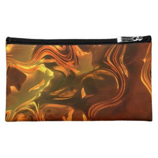 Molten Metal Abstract Art Design Cosmetic Bag