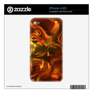 Molten Metal Abstract Art Design iPhone Skin Skin For The iPhone 4