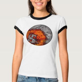 Molten Moon...Ladies Ringer T-Shirt