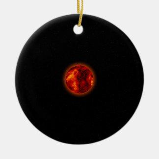 Molten Planet Ceramic Ornament