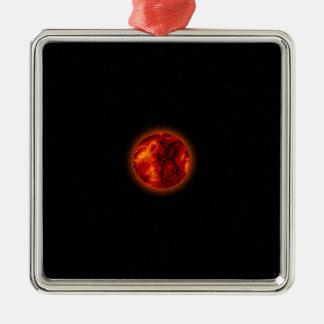 Molten Planet Metal Ornament