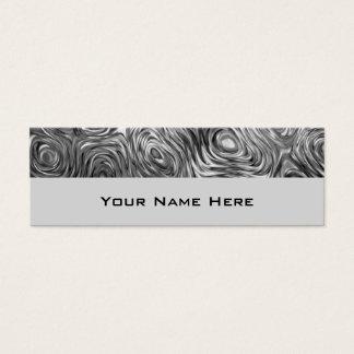Molten print business card skinny grey