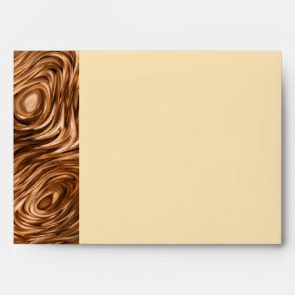 Molten print envelope A7 side stripe cream