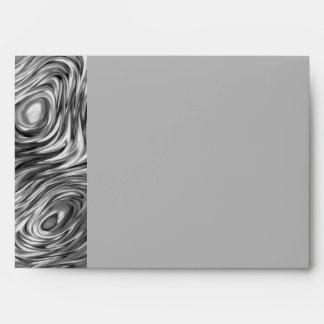 Molten print envelope A7 side stripe grey