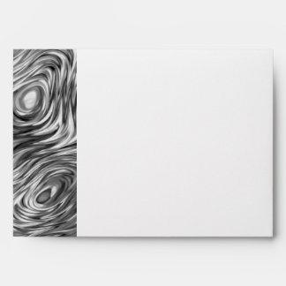 Molten print envelope A7 side stripe white