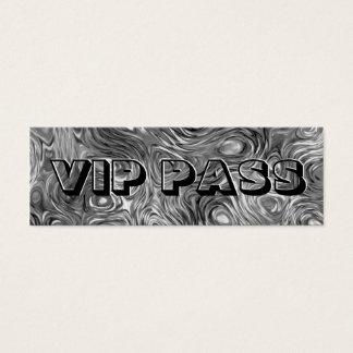 Molten print 'VIP PASS' skinny black Mini Business Card