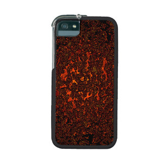Molten red metal abstract digital pattern iPhone 5 covers