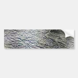 MOLTEN silver AQUA MELTED METAL DIGITAL ABSTRACT R Bumper Sticker