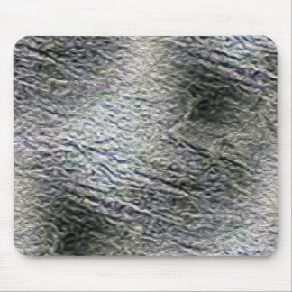 MOLTEN silver AQUA MELTED METAL DIGITAL ABSTRACT R Mouse Pads