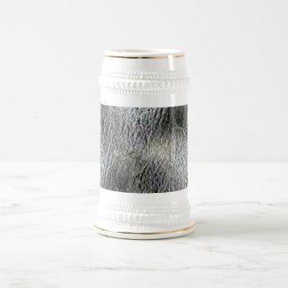 MOLTEN silver AQUA MELTED METAL DIGITAL ABSTRACT R Coffee Mug