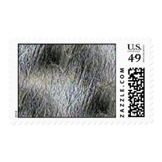 MOLTEN silver AQUA MELTED METAL DIGITAL ABSTRACT R Postage