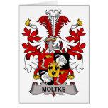 Moltke Family Crest Card