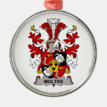 Moltke Family Crest Christmas Tree Ornament