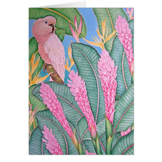 Moluccan Cockatoo Card