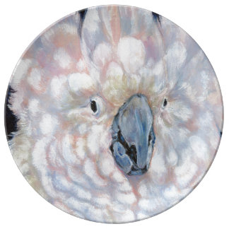 Moluccan Cockatoo on a plate Porcelain Plates