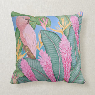 Moluccan Cockatoo Watercolor Pillow