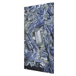 Molybdenite crystals with Quartz Canvas Print