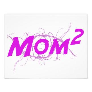 Mom2 Vector Custom Invitations