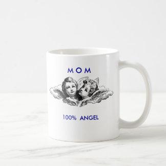 MOM 100% ANGEL coffee mug
