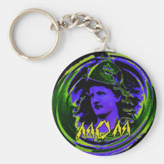 Mom 1 basic round button keychain
