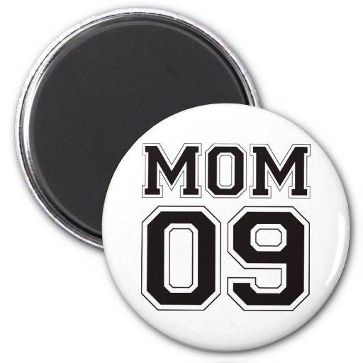 Mom 2009 - Black Fridge Magnet