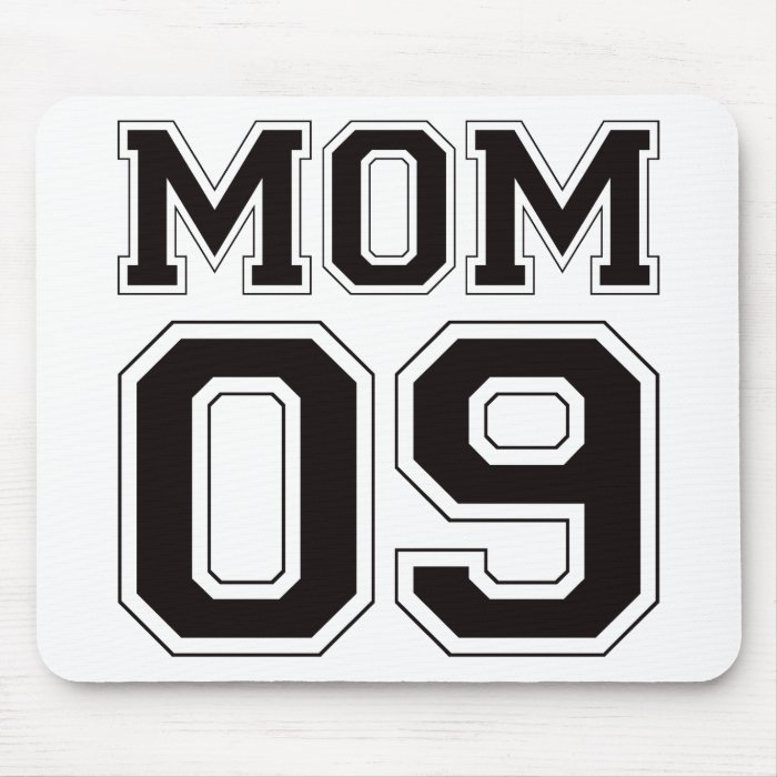 Mom 2009 - Black Mouse Pad