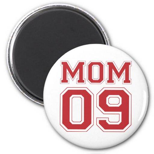 Mom 2009 - Red Fridge Magnets