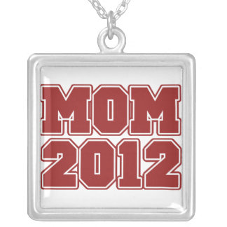 Mom 2012 silver plated necklace