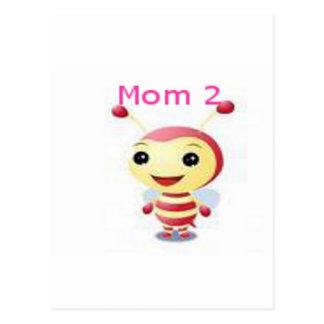 Mom 2 bee postcard