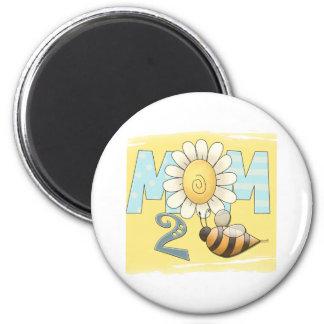 Mom 2 Bee Refrigerator Magnet