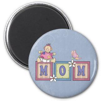 MOM 2 INCH ROUND MAGNET