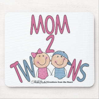 Mom 2 Twins Boy and Girl Mouse Pad