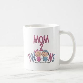 Mom 2 Twins Boy and Girl Coffee Mug
