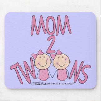 Mom 2 Twins Girls Mouse Pad