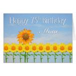 Mom, 75th Birthday, Sunflowers Card