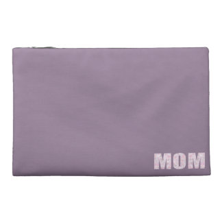 """MOM"" Abstract Geometric Multicolor Triangle Text Travel Accessory Bag"
