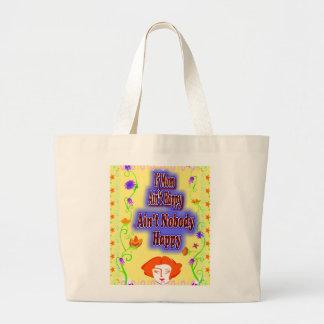 Mom aint Happy T=shirt Canvas Bag