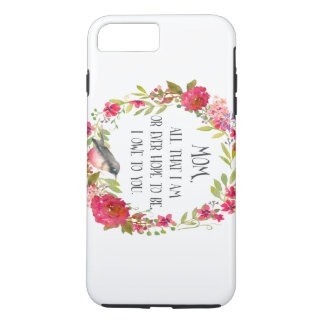 Mom All that I am Watercolor Print iPhone 8 Plus/7 Plus Case