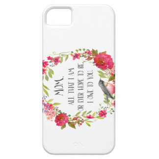 Mom All that I am Watercolor Print iPhone SE/5/5s Case