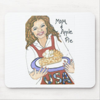 Mom and Apple Pie Mousepad