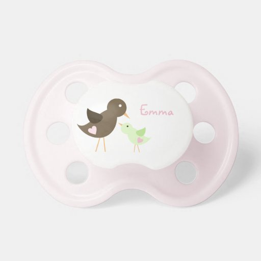 Mom and Baby Bird Pacifier