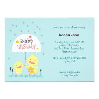 Mom and Baby Chick 5x7 Paper Invitation Card