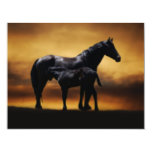 Mom and Baby colt 4.25x5.5 Paper Invitation Card