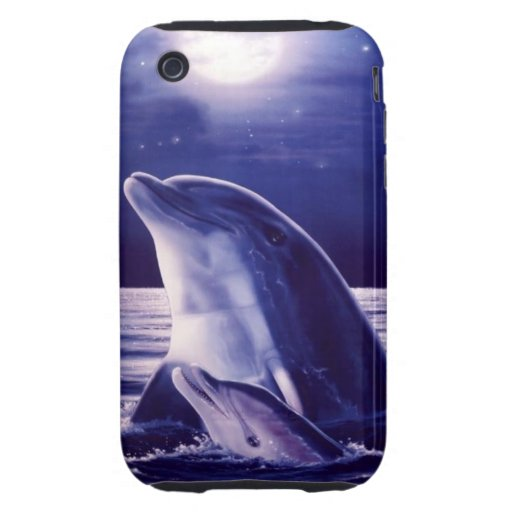 Mom and Baby Dolphin Case iPhone 3 Tough Case