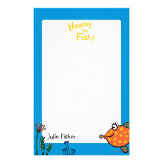 Mom and Baby Fish Kisses Stationery