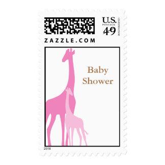 Mom and Baby Giraffe Baby Shower Postage