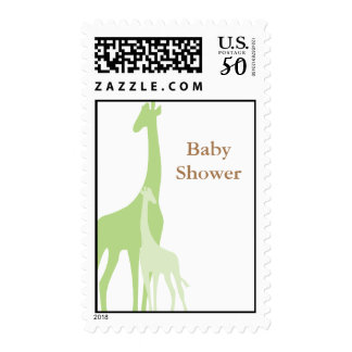 Mom and Baby Giraffe Baby Shower Postage