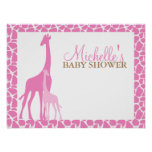 Mom and Baby Giraffe Baby Shower Welcome Sign