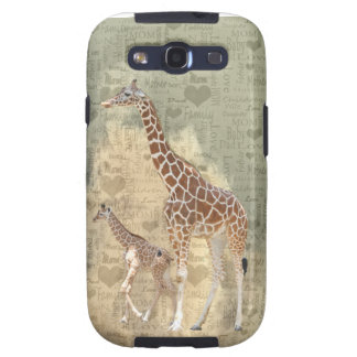 Mom and Baby Giraffe Galaxy III Cover Samsung Galaxy S3 Cover