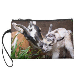 Mom and Baby Goat Wristlet Purse